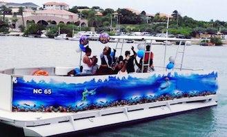 30' Party Boat Rental in Jan Thiel
