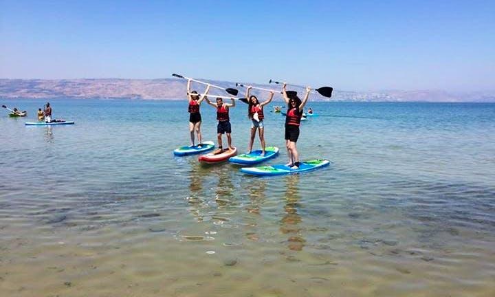 Enjoy Paddleboarding in Hazafon, Israel