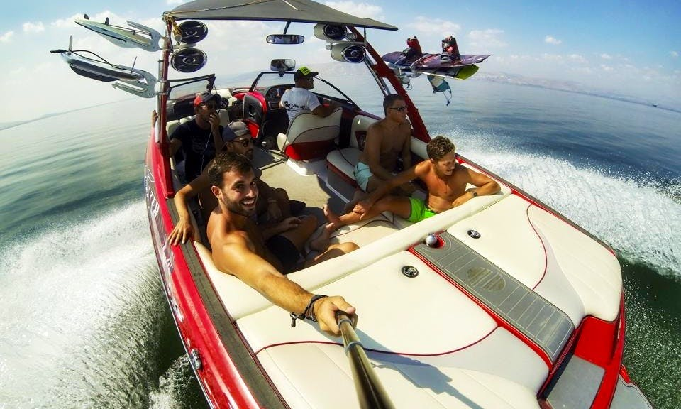 Unbelievable Wakeboarding Boat for Rent in Hazafon, Israel