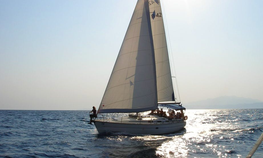 Sailing Daily Cruise with a Bavaria 42  Cruising Mono hull for up to 8 people.