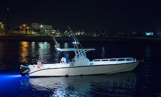 Enjoy Fishing in Dubai, United Arab Emirates on 39' Foot Speed Boat
