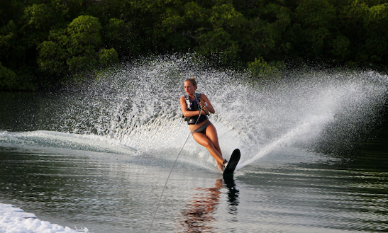 Enjoy Water Skiing In Marin, Martinique