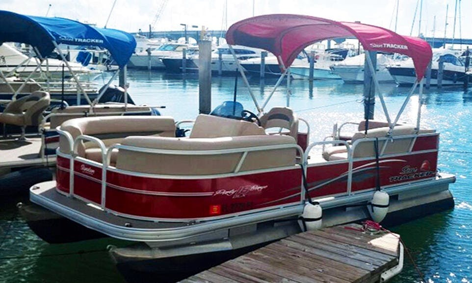 Pontoon rental in Miami for up to 5 passengers