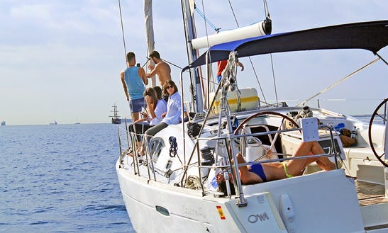 Sailing Charter On 40ft Oceanis Cruising Monohull In Espigó De Llevant, Spain