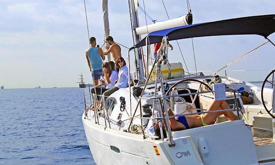 Sailing Charter On 40ft Oceanis Cruising Monohull In Espigó De Llevant, Spain