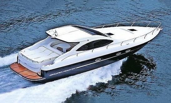 Captained charter on 30 39 motor yacht in santorini greece for Motor boat rental greece