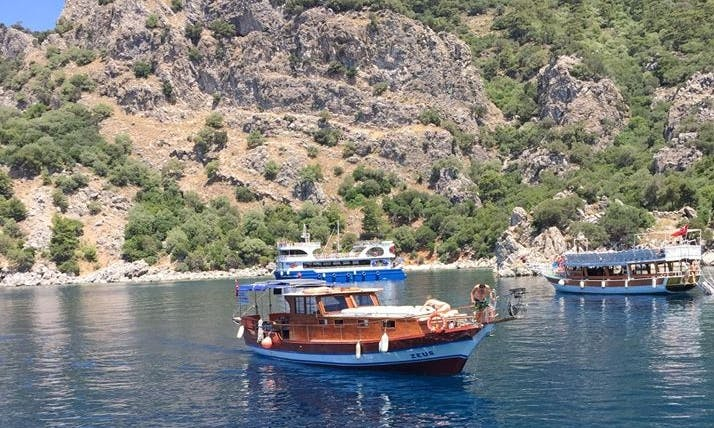 Charter this 6 person boat with a  captain in Muğla, Turkey