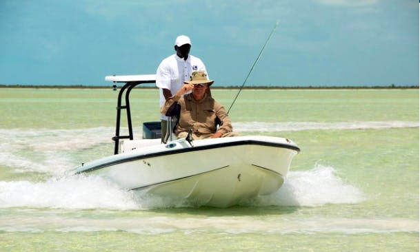 Enjoy Fishing in North Andros, The Bahamas on Jon Boat