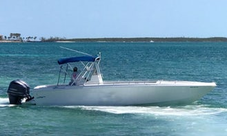 Enjoy Exuma, Bahamas in our Baja Centre Console for up to 10 person