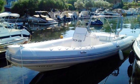 Charter 31' Euromarine 950 Rigid Inflatable Boat In Kožino, Croatia