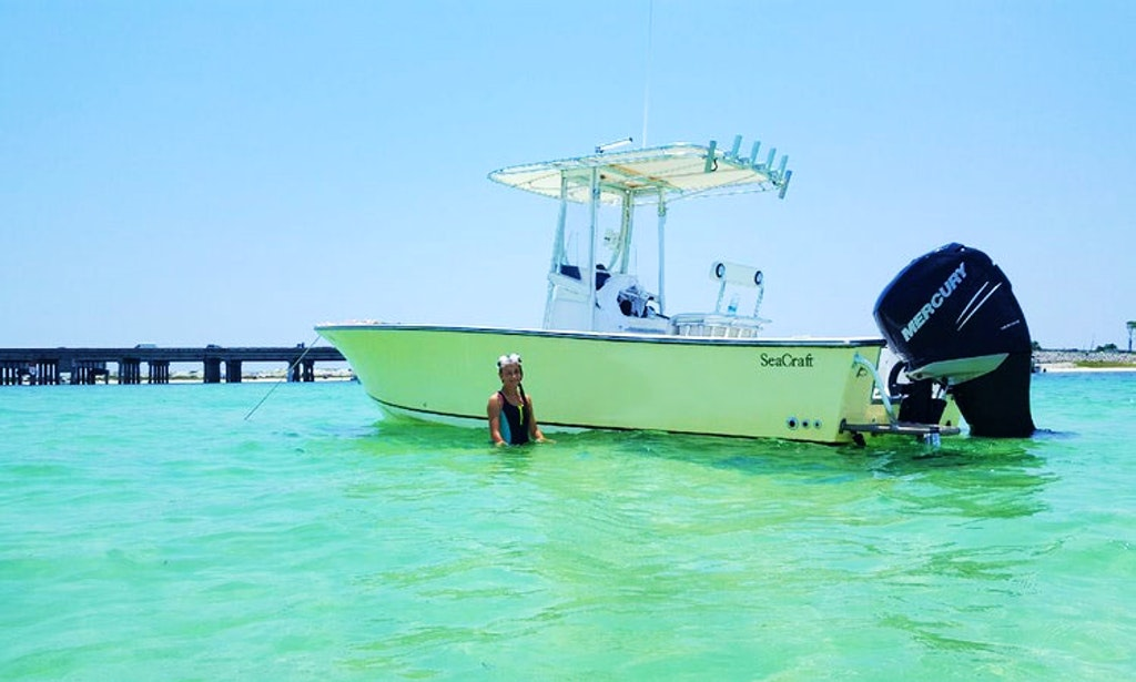Fishing charter and sunset dolphin tour in fort walton for Fort walton beach fishing