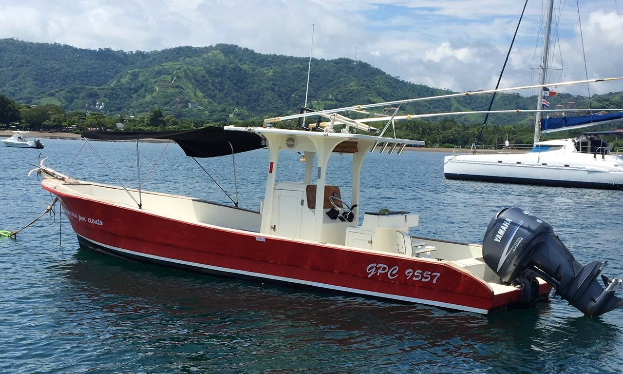 Thrilling Deep Sea Fishing Trip on Red Center Console Fishing Boat!