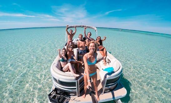 22' Pontoon Boat Rental In Destin, Florida
