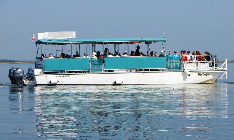 45ft Pontoon Boat Rental in Fernandina Beach, Florida