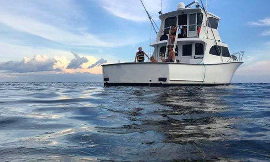 Fishing Charter Om 48' Sport Fisherman Yacht In Destin, Florida