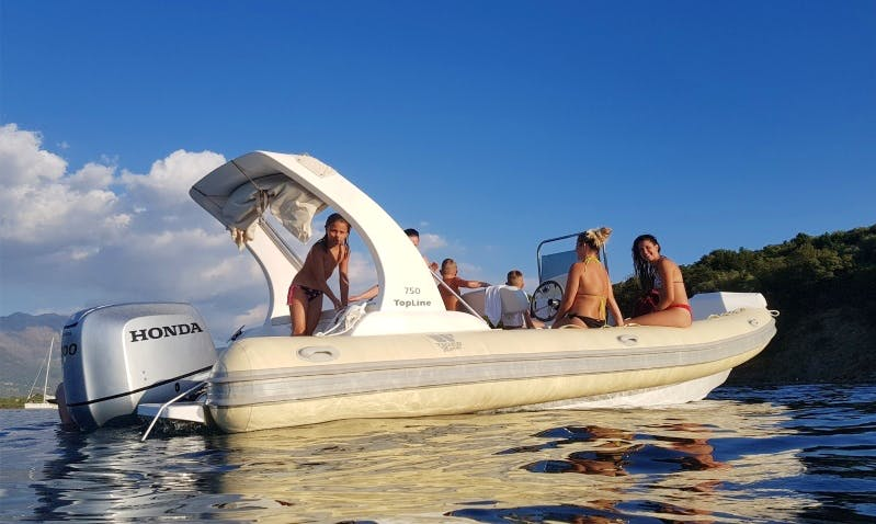 Rent 24' Tiger Top Line Rigid Inflatable Boat in Tivat, Montenegro