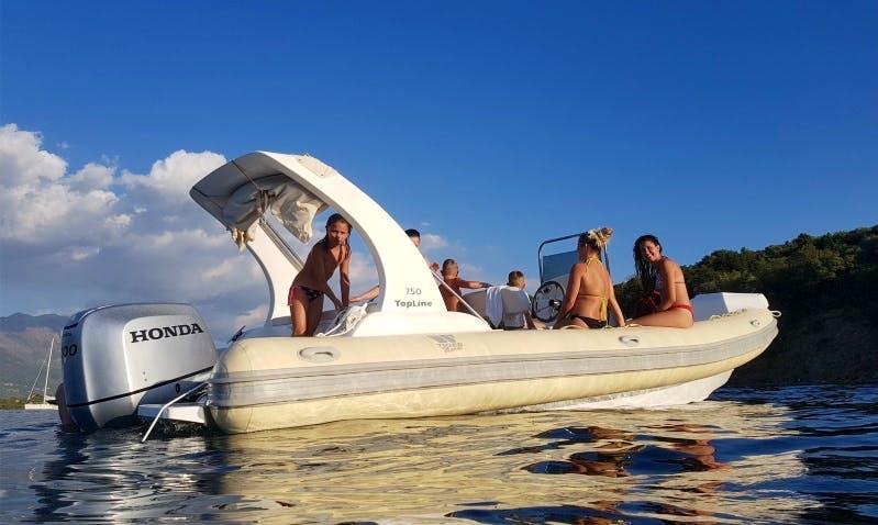 Rent 24' Tiger Top Line Rigid Inflatable Boat in Tivat, Montenegro