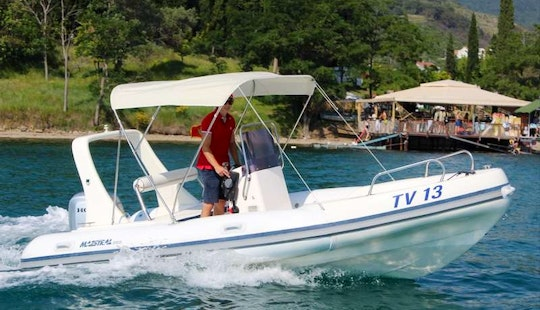 Rent 19' Maestral Rigid Inflatable Boat In Tivat, Montenegro