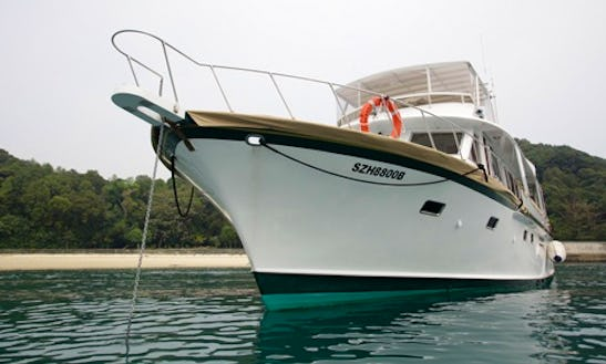 Charter 75' Winedown Too Power Mega Yacht In Singapore
