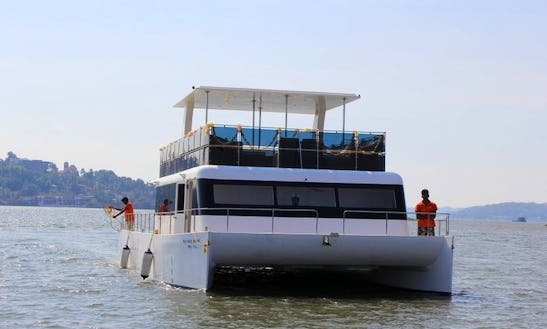 Charter 39' Free Spirit Power Catamaran In Panaji, Goa