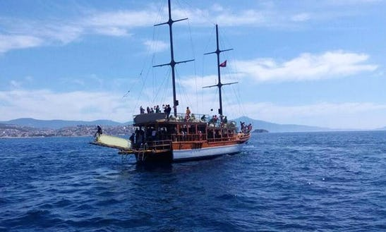 Charter A Sailing Gulet For 85 Person In Aydın, Turkey