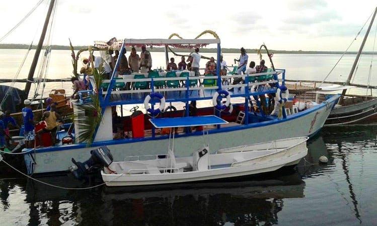 Passenger Boat Rental in Watamu, Kenya for up to 25 person