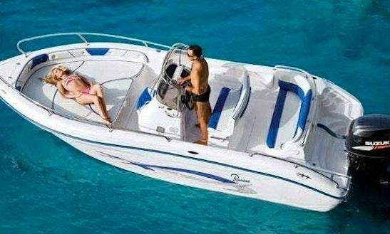 Ranieri Center Console Boat Rental In Port De Pollensa, Spain