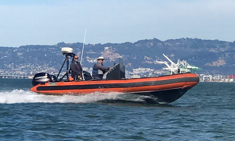 "Rent 22ft ""Alpha"" Zodiac Hurricane Inflatable Boat in San Francisco (Captained Only)"