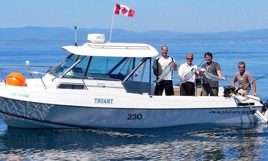 26ft Aquasport Cuddy Cabin Boat Charter In Victoria, Canada