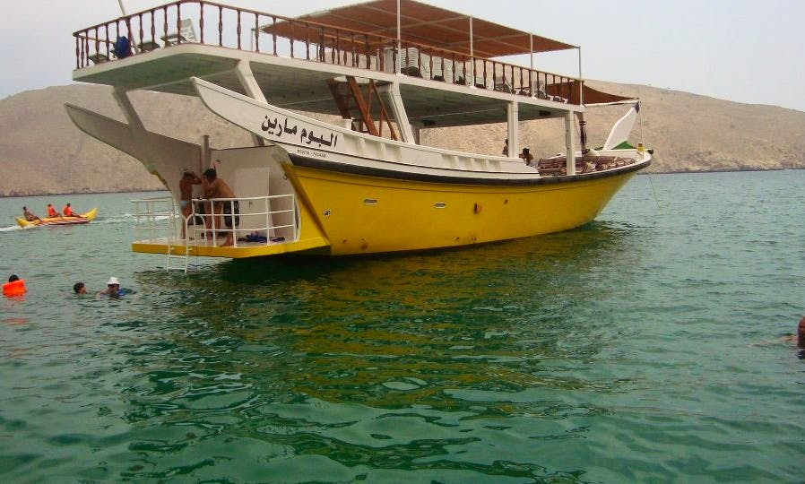 Musandam Dhow cruise with lunch, Fishing, Swimming
