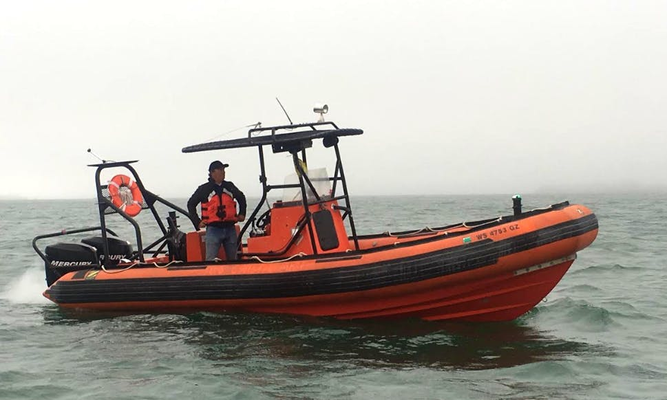 "21ft ""Alpha"" Zodiac Inflatable Boat Rental In San Francisco, California"