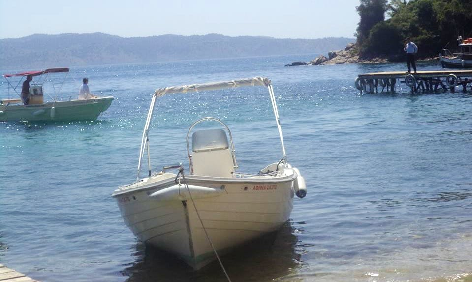 Rent a Center Console in Kerkira, Greece for Island Hopping Fun