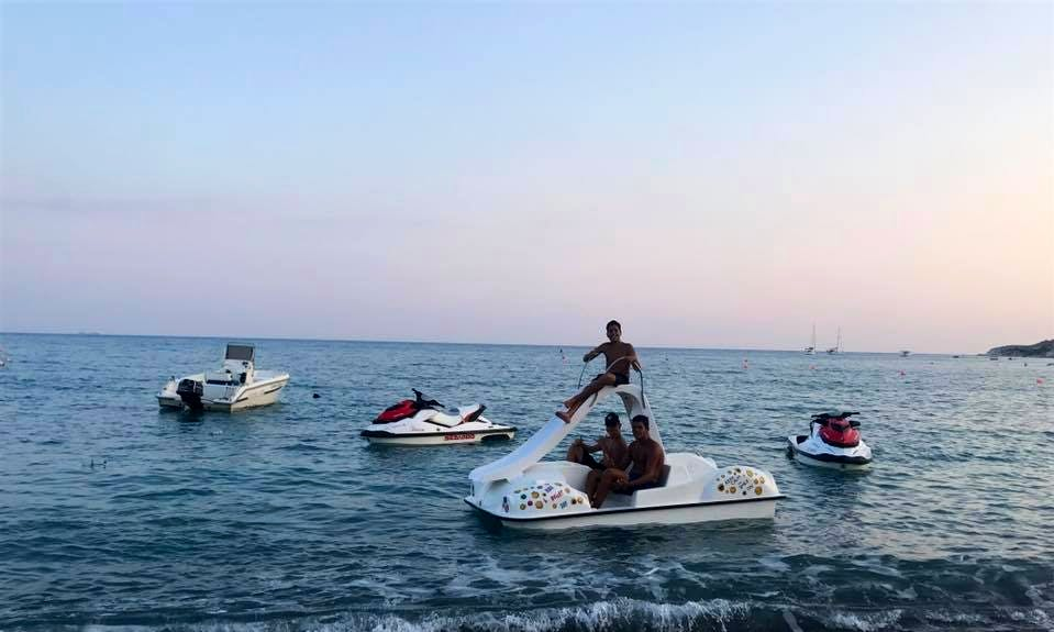 Rent a Pedal Boat in Pissouri Bay, Cyprus