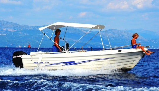 Poseidon 510, Boat Hire In Longos, Paxos, Greece