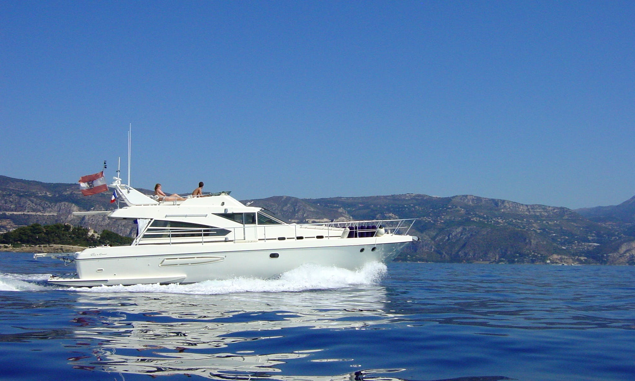 Take 6 firends out on this Motor Yacht in Menton, France