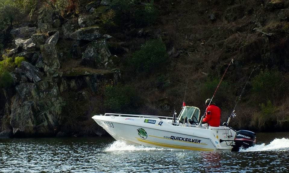 Enjoy Fishing in Coimbra, Portugal on Quicksilver 500 Center Console
