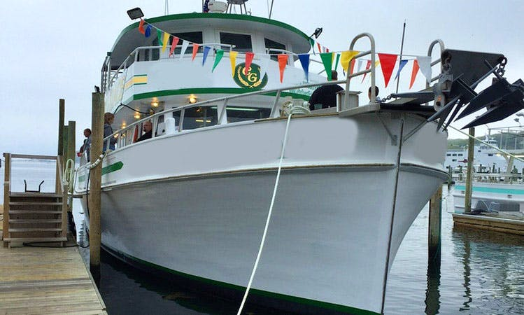 """78ft """"Celtic Grace"""" Trawler Fishing Boat Charter in Brookhaven, New York"""