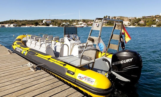 Astec Vigilant & Diving Pro 750 Rib Rental In Mahón, Spain