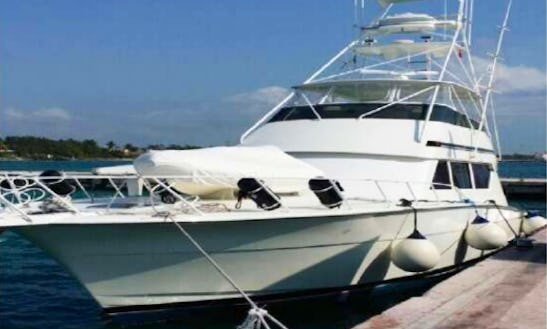 Enjoy Fishing In Cancún, Mexico On 60' Hatteras Sport Fisherman