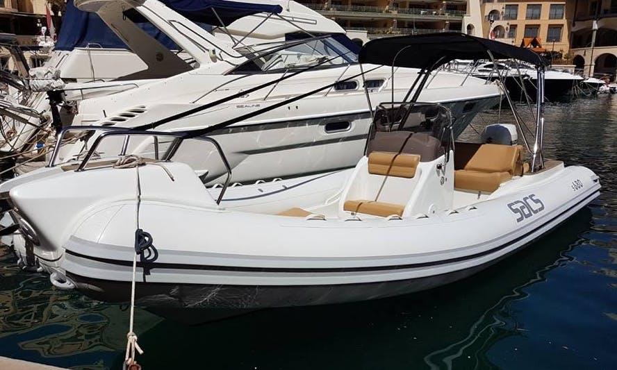Charter a Rigid Inflatable Boat in San Ġwann, Malta