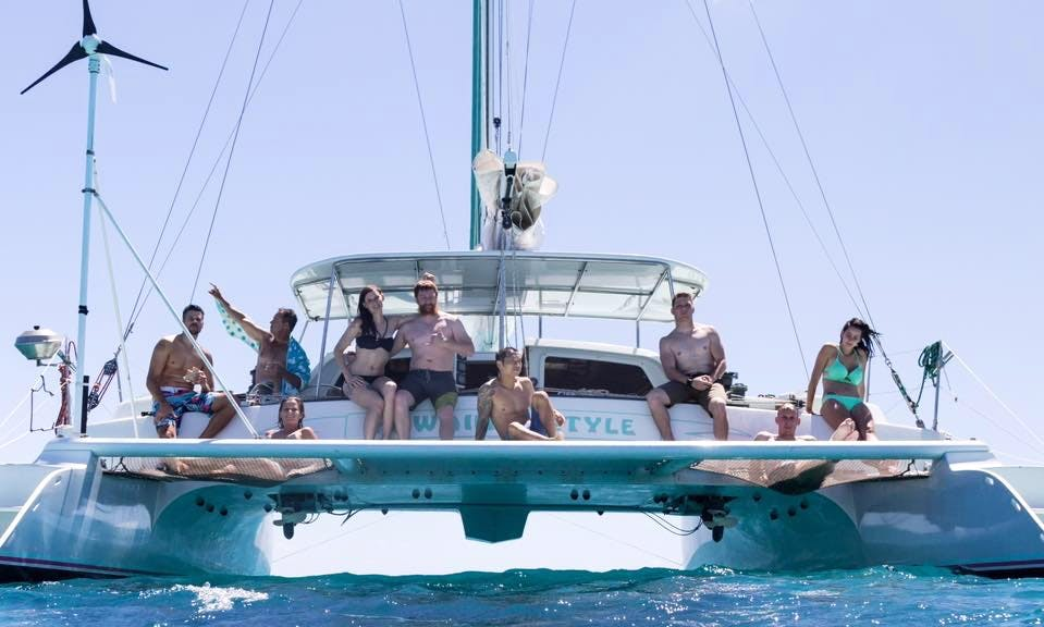 Sailing Charter On 48' Custom Made Sailing Catamaran In Honolulu, Hawaii