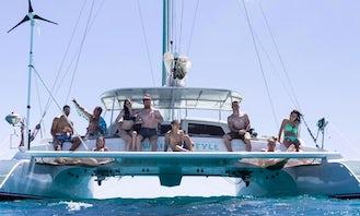 Sailing Charter On 48' Custom Made Sailing Catamaran In Honolulu, Hawaii