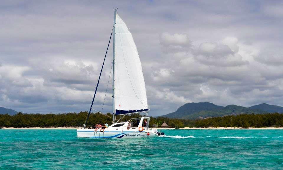 Enjoy Sailing on a 21 people Cruising Catamaran Charter in Trou d'Eau Douce, Mauritius