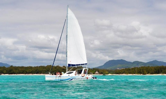 Enjoy Sailing On A 21 People Cruising Catamaran Charter In Trou D'eau Douce, Mauritius