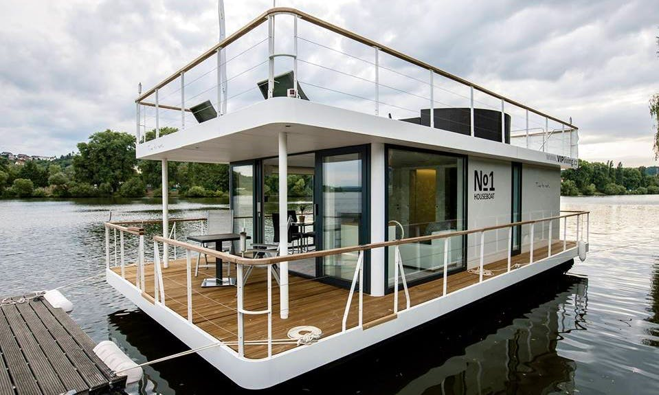 Charter 39' Houseboat in Prague, Czechia
