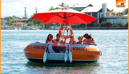 Round Boat Rental In Main Beach With Coasting Around