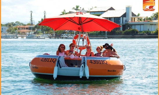 Round Boat Rental In Main Beach With Coasting Around