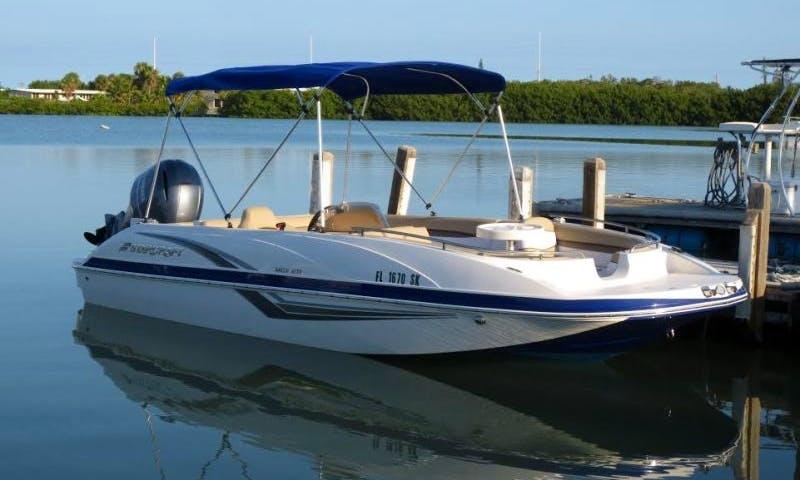 21' Starcraft Deck Boat Deck Boat Rental In Key West, Florida