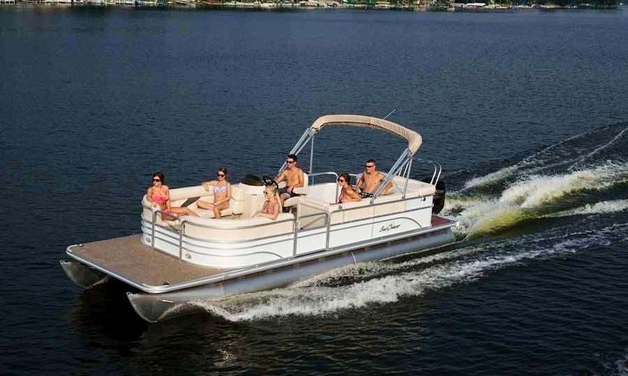 24' Starcraft Pontoon Boat Rental In Key West, Florida