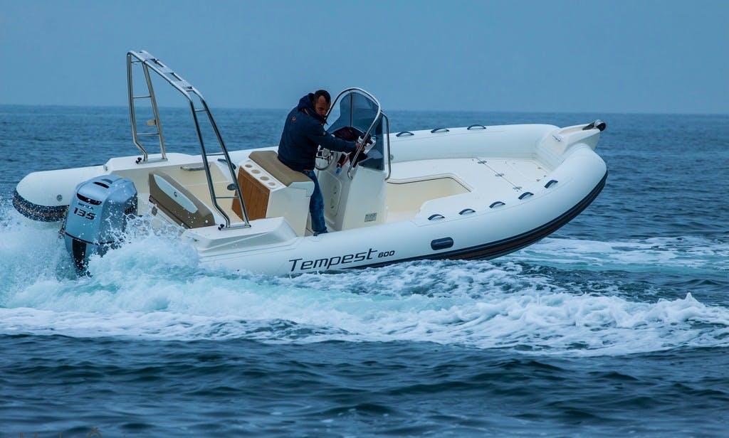 Rent & Explore Croatia's Coast on this Capelli Tempest 600 RIB in Zadar